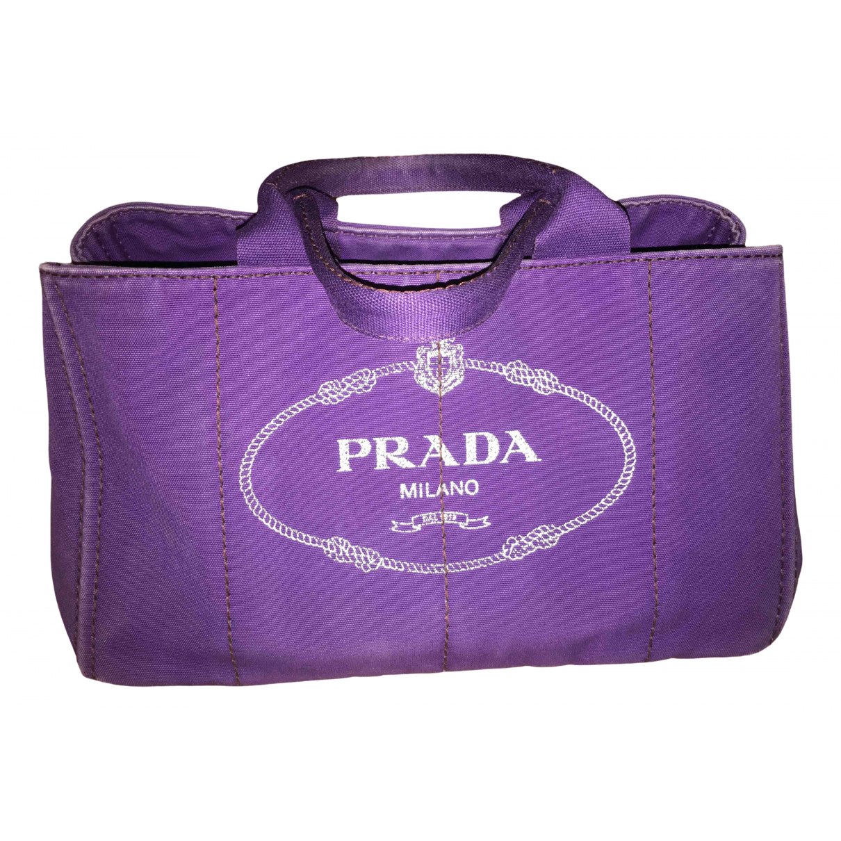 Prada \N Handtasche in  Lila Leinen