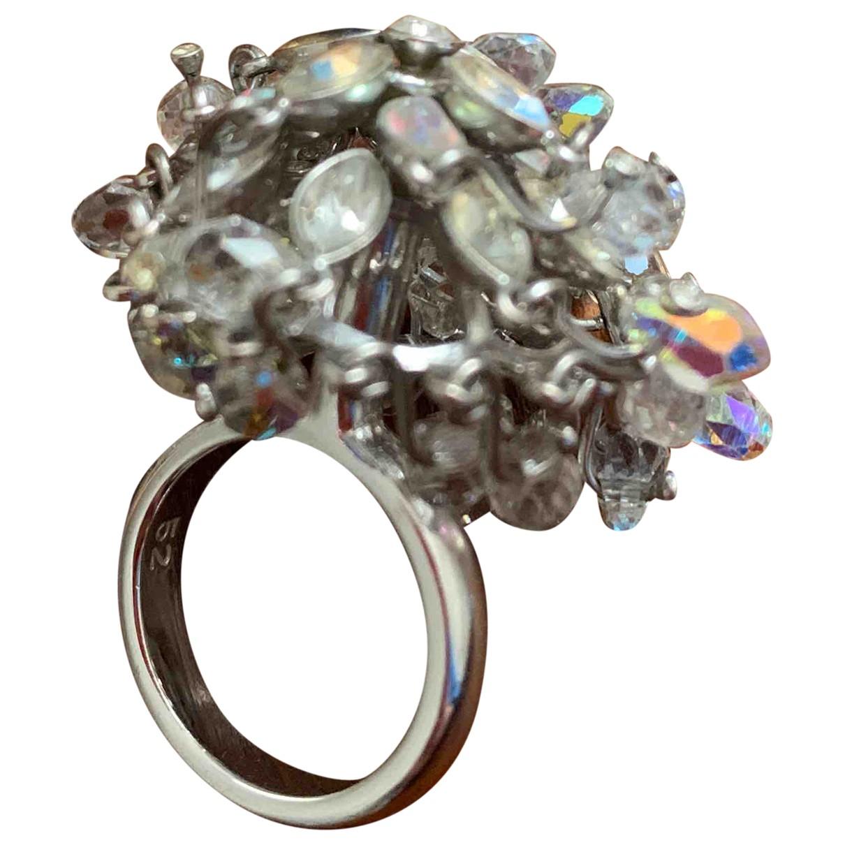 Swarovski \N Ring in  Weiss Kristall