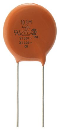 Vishay Single Layer Ceramic Capacitor SLCC 1nF 500 V ac, 760 V ac ±20% Y5U Dielectric 440L Series Through Hole