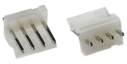 Molex , KK 396, 5273, 4 Way, 1 Row, Straight PCB Header (10)