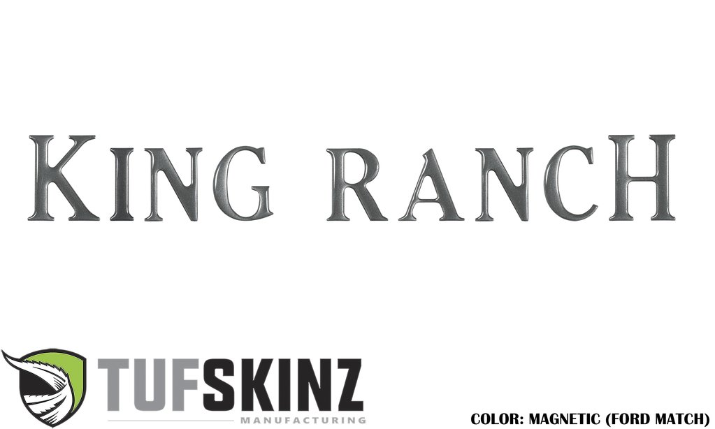 Tufskinz FRD009-MAG-G Tailgate King Ranch Inserts 9 Piece Kit Magnetic Ford F-150 2018-2021