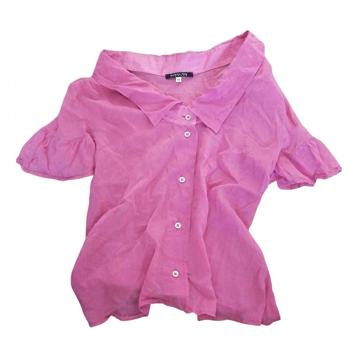 Patrizia Pepe - Top   pour femme en coton - rose