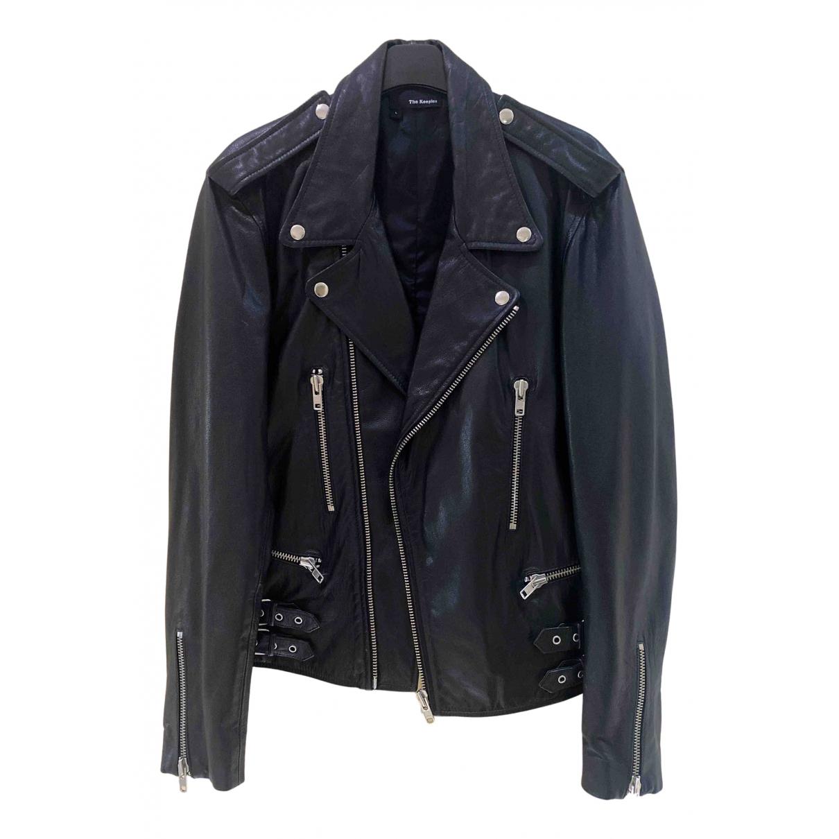 The Kooples N Black Leather jacket  for Men L International