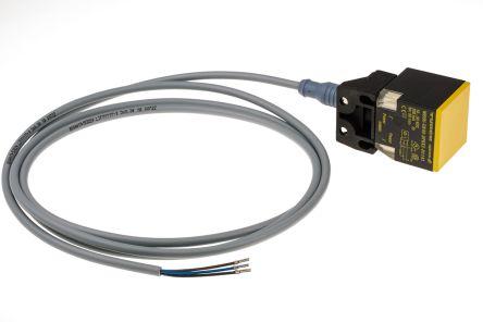 Turck Inductive Sensor - Block, PNP-NO Output, 50 mm Detection, IP68, M12 - 4 Pin Terminal