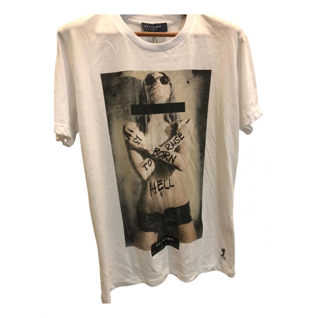 Religion - Tee shirts   pour homme en coton - blanc