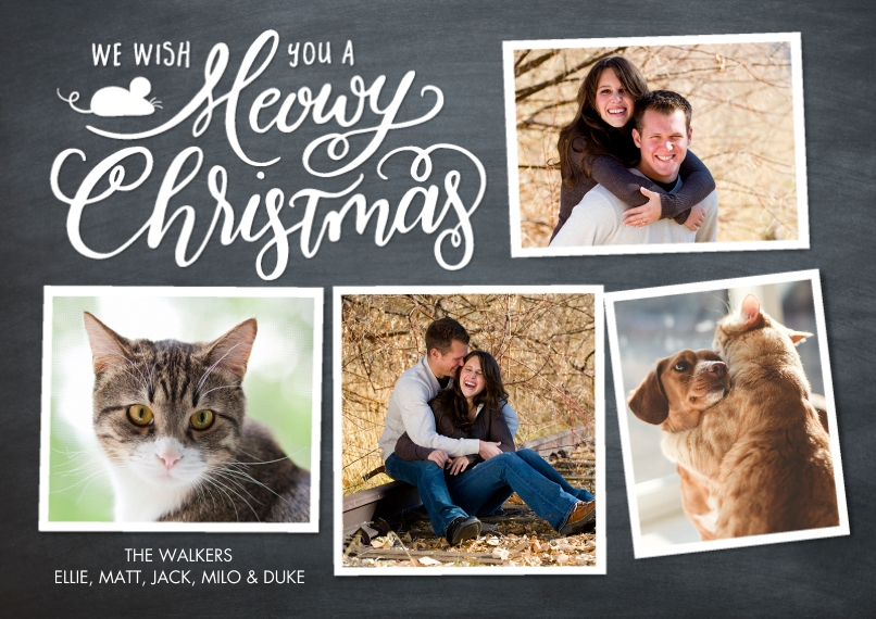 Christmas Photo Cards Flat Glossy Photo Paper Cards with Envelopes, 5x7, Card & Stationery -Christmas Merry Collage by Tumbalina