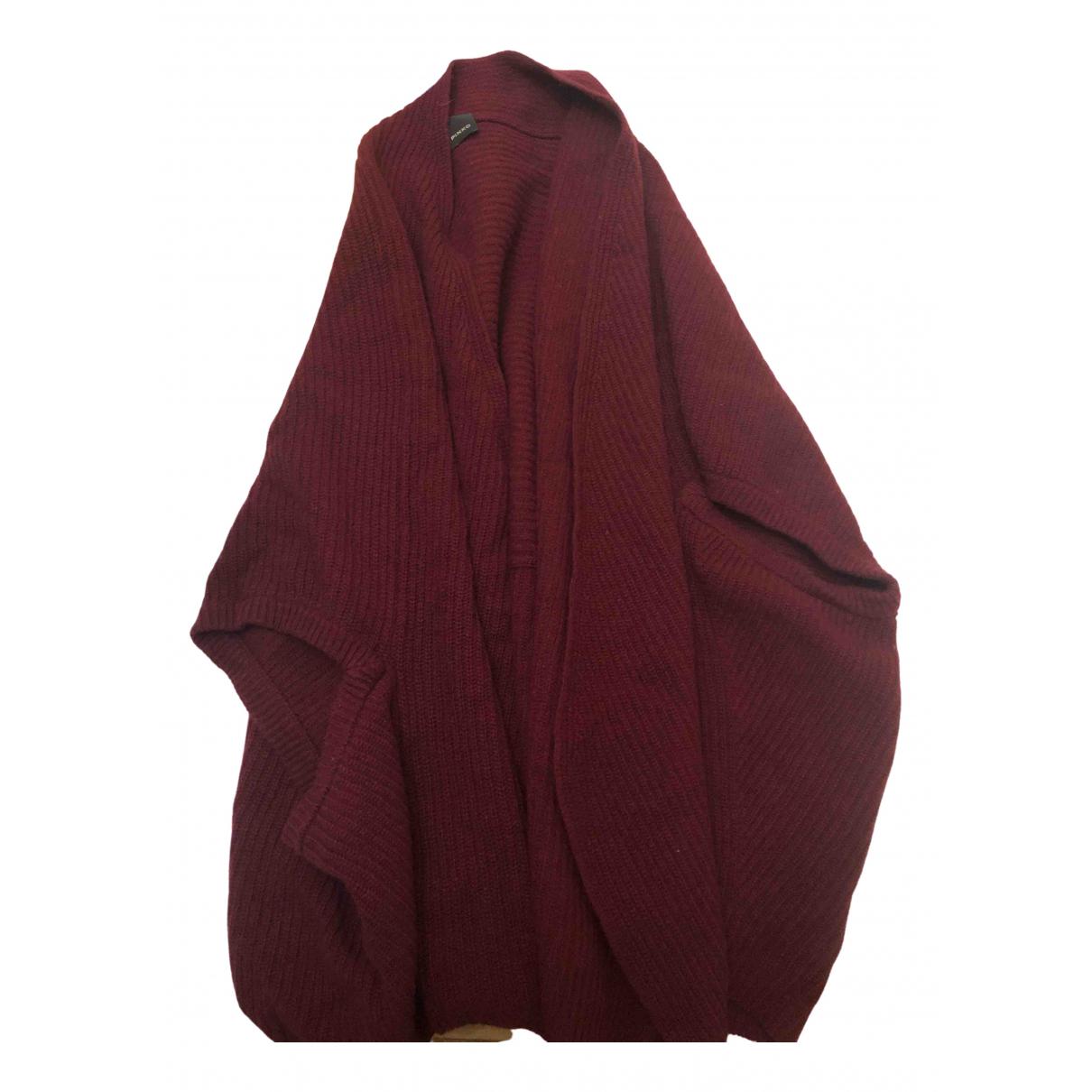 Pinko - Pull   pour femme en laine - bordeaux