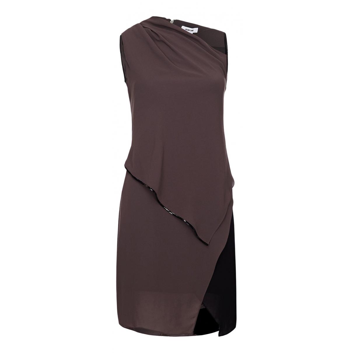 Helmut Lang N Brown Cotton dress for Women 6 UK