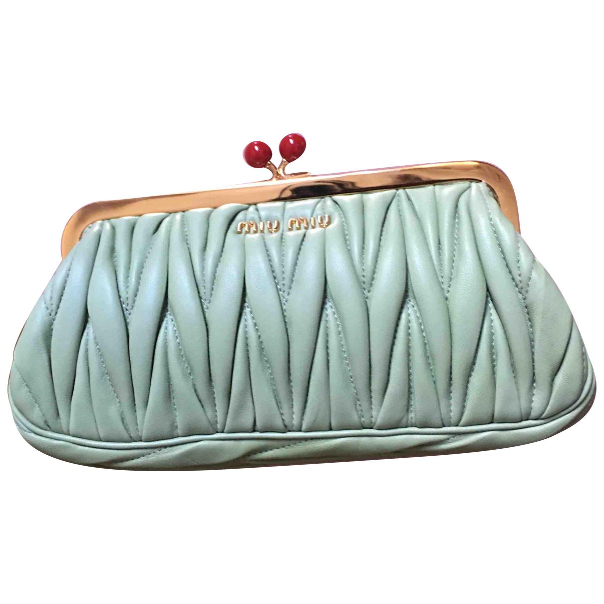 Miu Miu - Petite maroquinerie   pour femme en cuir - vert