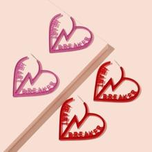 2 Paare Ohrstecker mit Herzen Design