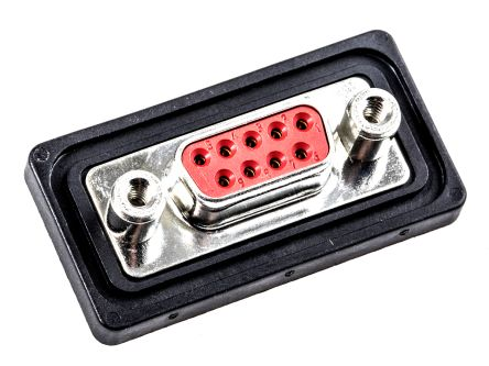 FCT , FWD 9 Way Panel Mount D-sub Connector Socket