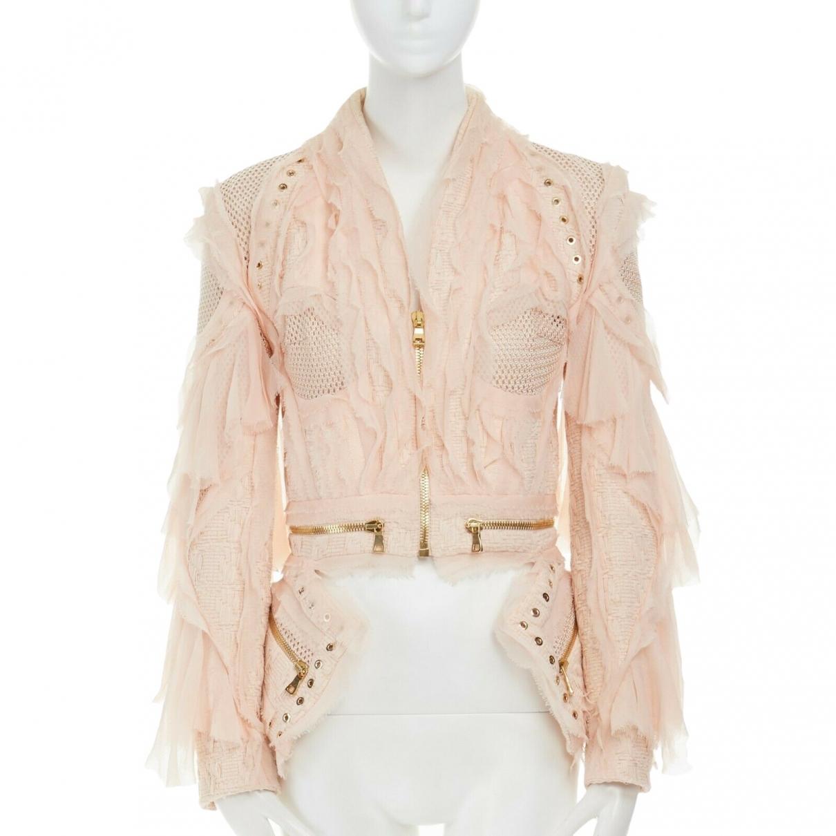 Balmain \N Pink Cotton jacket for Women 36 FR