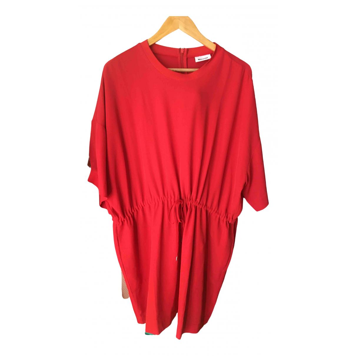 Weekday \N Kleid in  Rot Synthetik