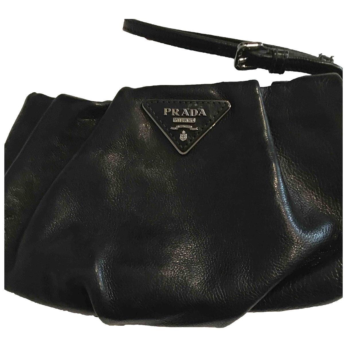 Prada \N Black Leather Clutch bag for Women \N