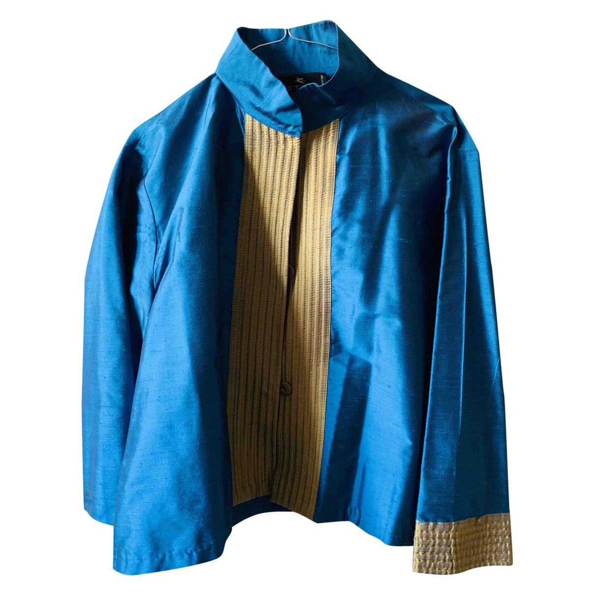 Etro - Veste   pour femme en soie - turquoise