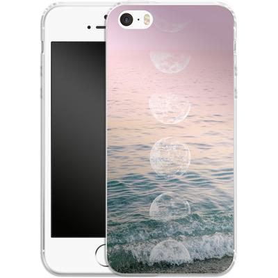 Apple iPhone 5 Silikon Handyhuelle - Moontime Beach von Emanuela Carratoni