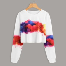 Tie Dye Crop Sweatshirt