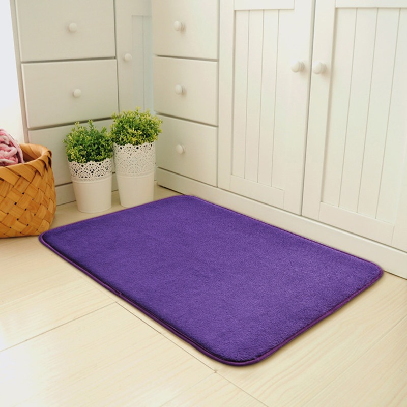 Ericdress Cartoon Solid Color Non Slip Bath Mat For Bathroom Carpet Rugs