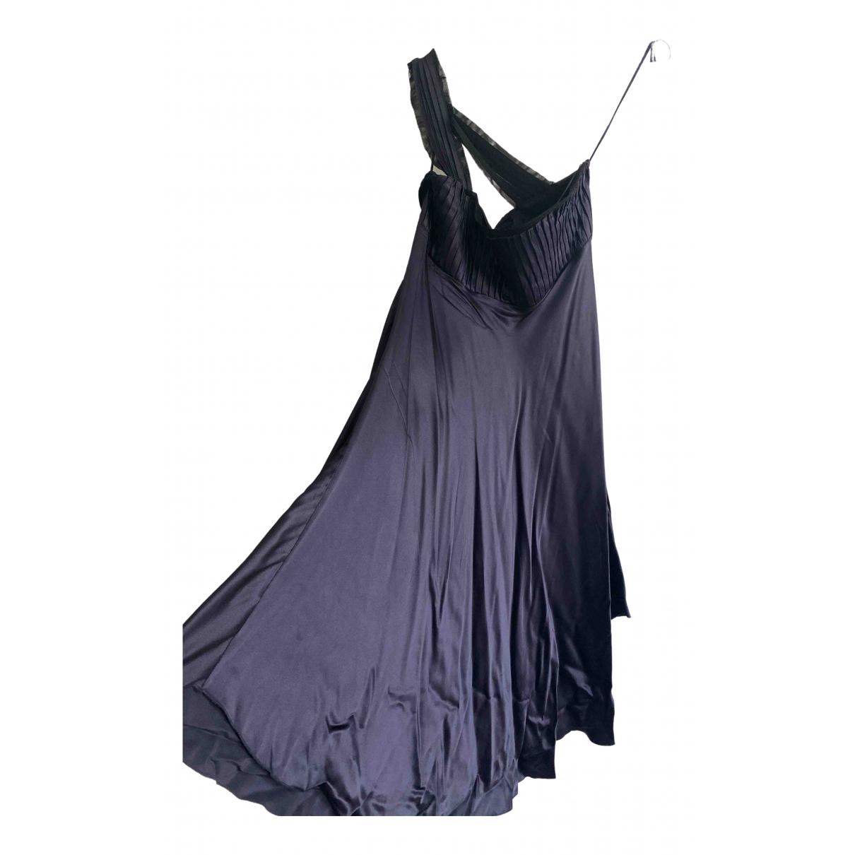 Emporio Armani - Robe   pour femme en soie - marine