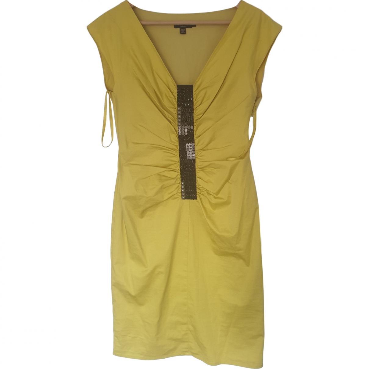 Ted Baker - Robe   pour femme en coton - jaune