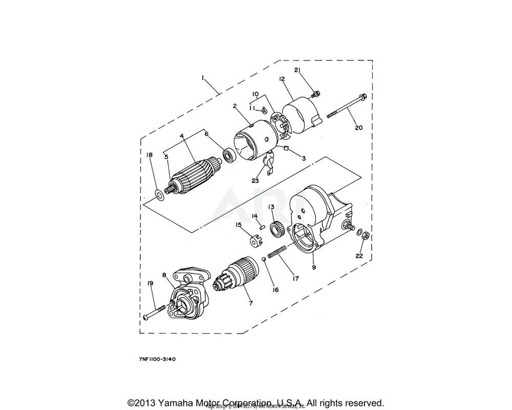 Yamaha OEM YF1-55046-30-40 CLUTCH (EDL6500)