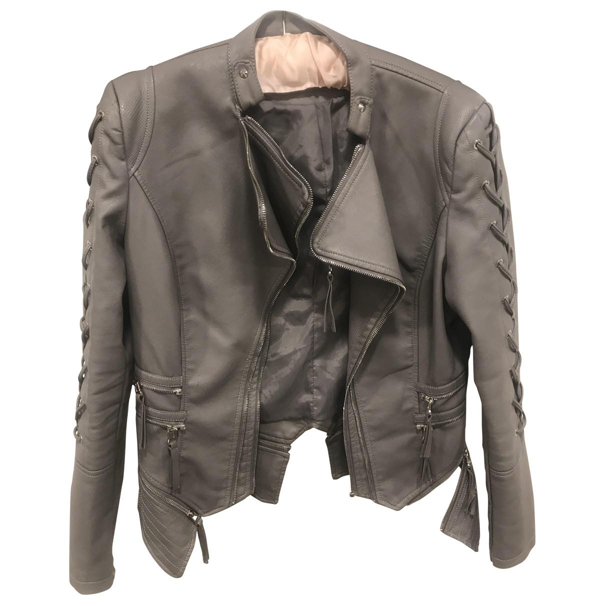 - Veste   pour femme en cuir - gris