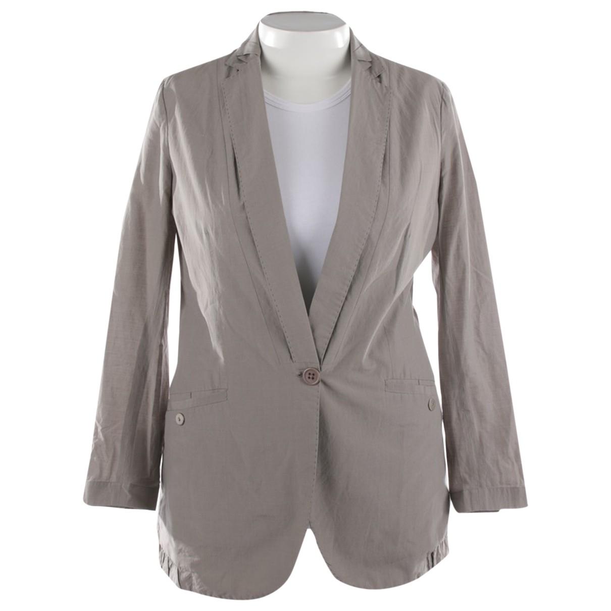 Brunello Cucinelli - Veste   pour femme en coton - gris