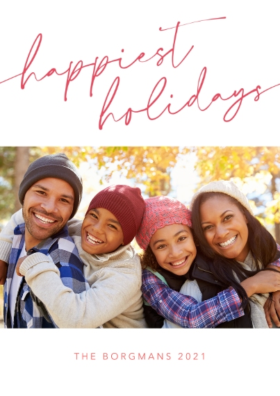 Christmas Photo Cards 5x7 Cards, Standard Cardstock 85lb, Card & Stationery -Signature Wishes