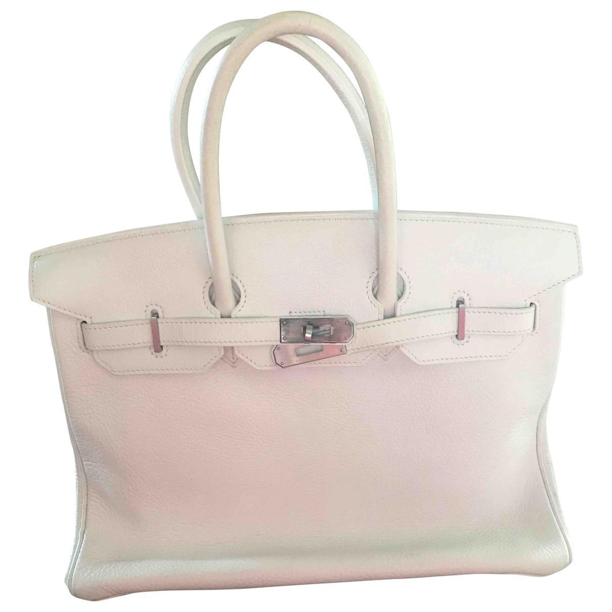 Hermès Birkin 35 White Leather handbag for Women \N