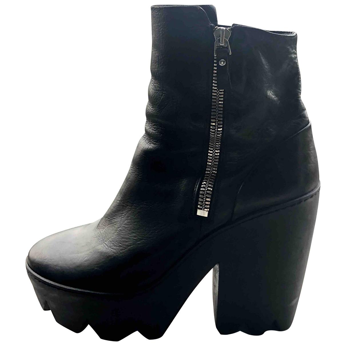 Vic Matie - Bottes   pour femme en cuir - noir