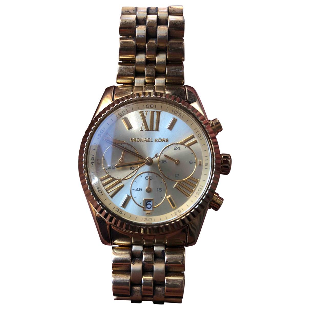 Michael Kors \N Uhr in  Gold Stahl