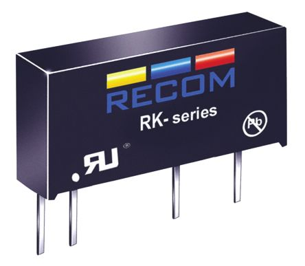 Recom RK 1W Isolated DC-DC Converter Through Hole, Voltage in 4.5 → 5.5 V dc, Voltage out 5V dc