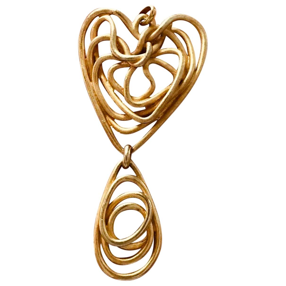 Balenciaga - Pendentif   pour femme en metal - dore