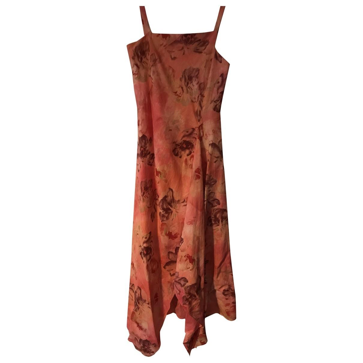 Zapa \N Kleid in  Rosa Leinen