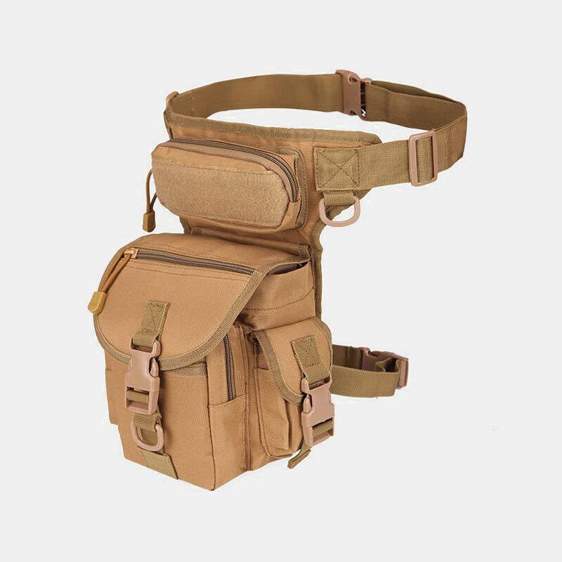 Men Oxford Cloth Camouflage Outdoor Sport Waterproof Leg Bag Waist Bag Shoulder Bag