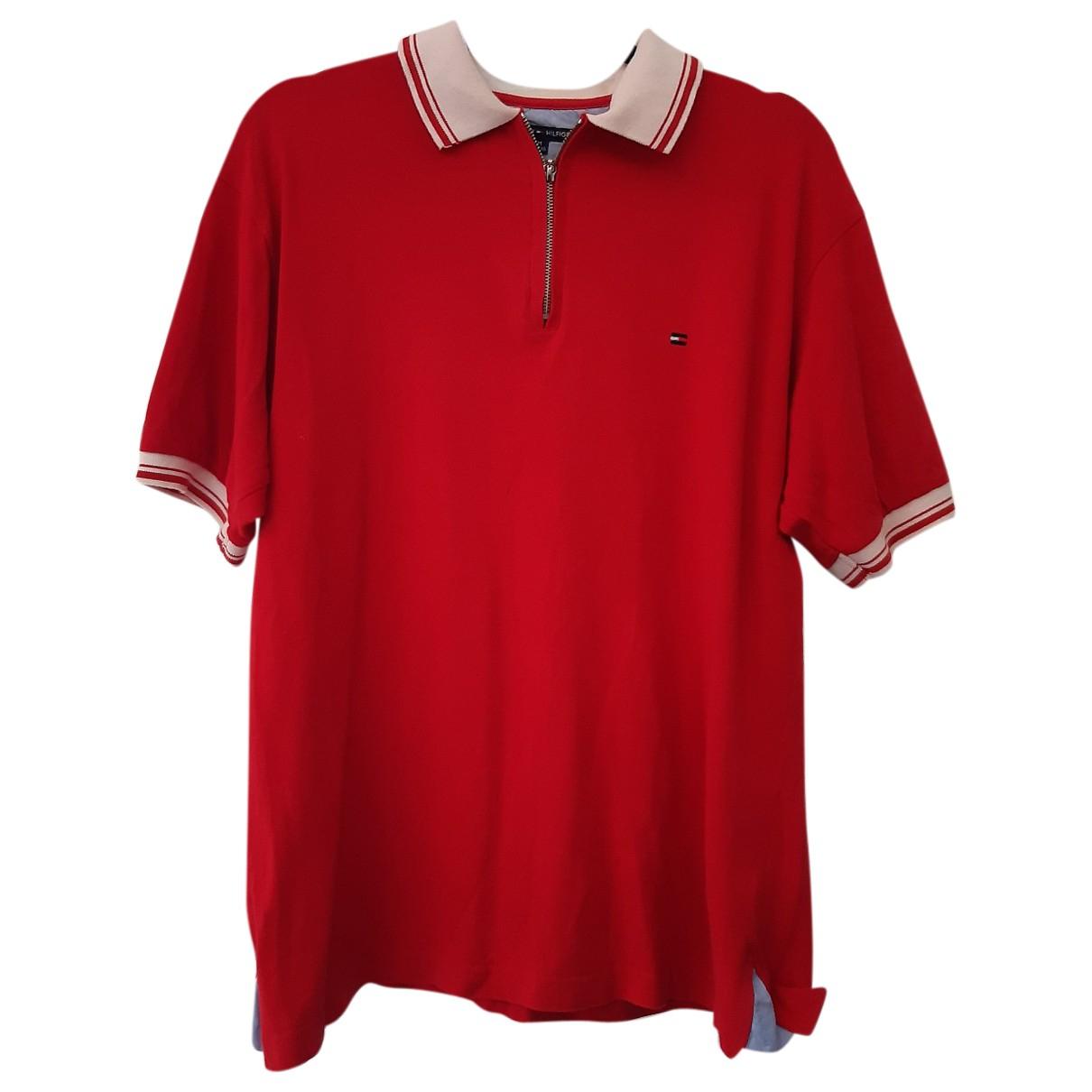 Polo en Algodon Rojo Tommy Hilfiger