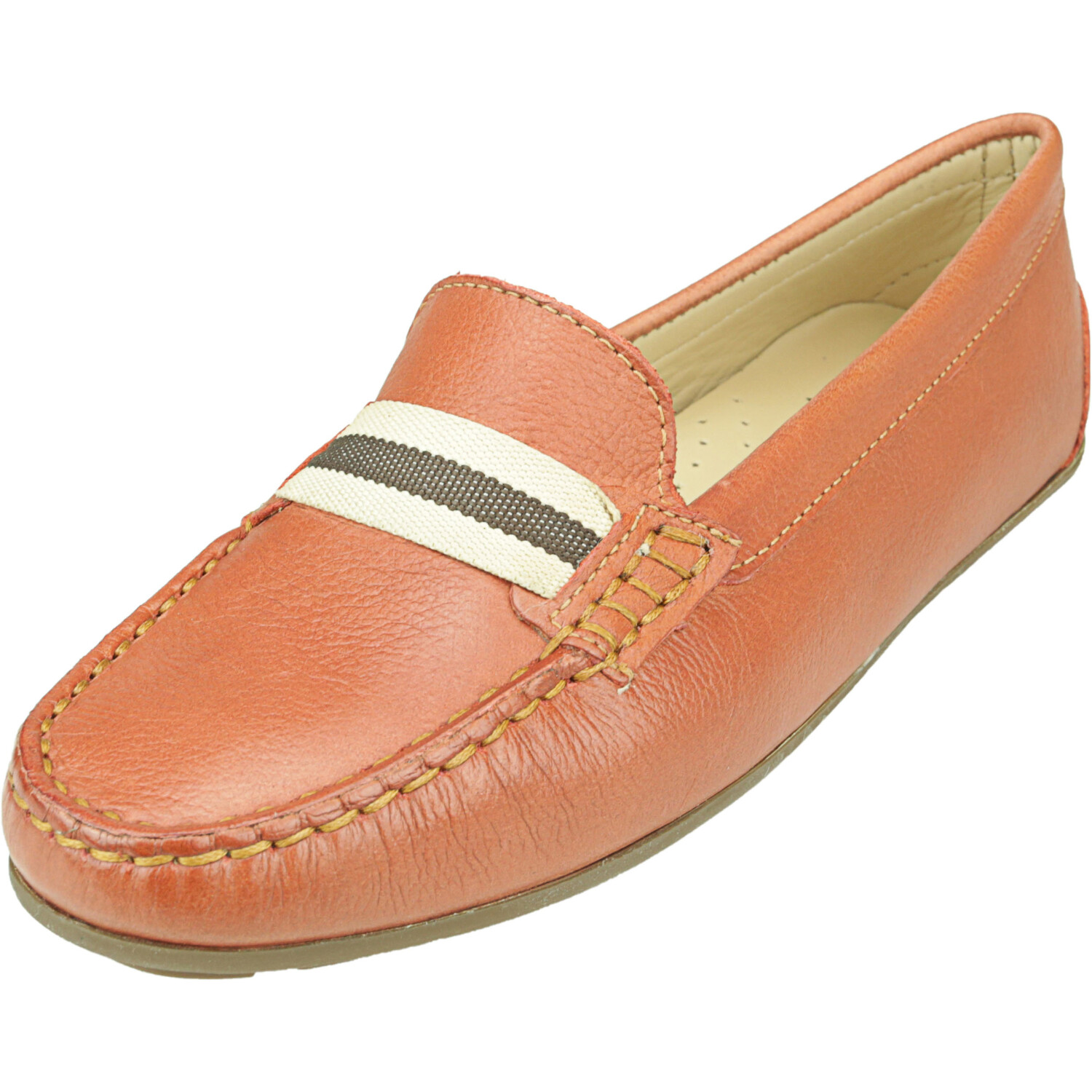 Driver Club Usa Women's Mulberry 2 Orange Everest Ankle-High Leather Loafers & Slip-On - 5M
