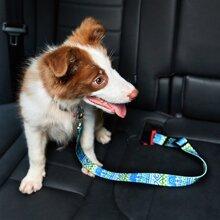 1 Stueck Auto-Sicherheitsgurt mit Geometrie Muster fuer Hunde