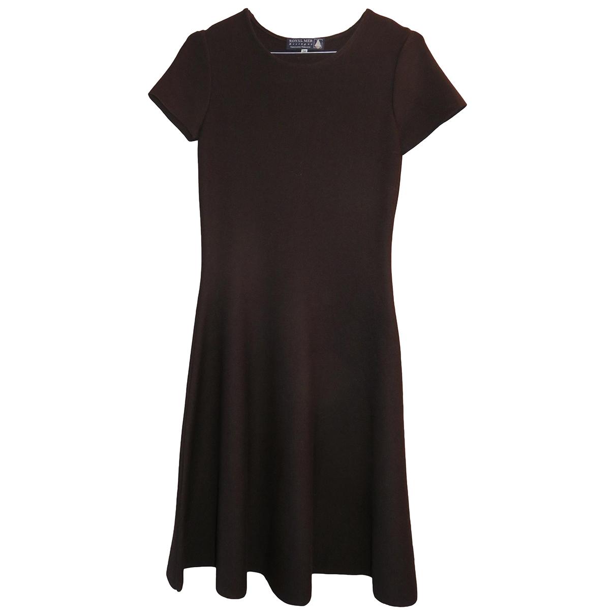 Royal Mer Bretagne - Robe   pour femme en laine - marron