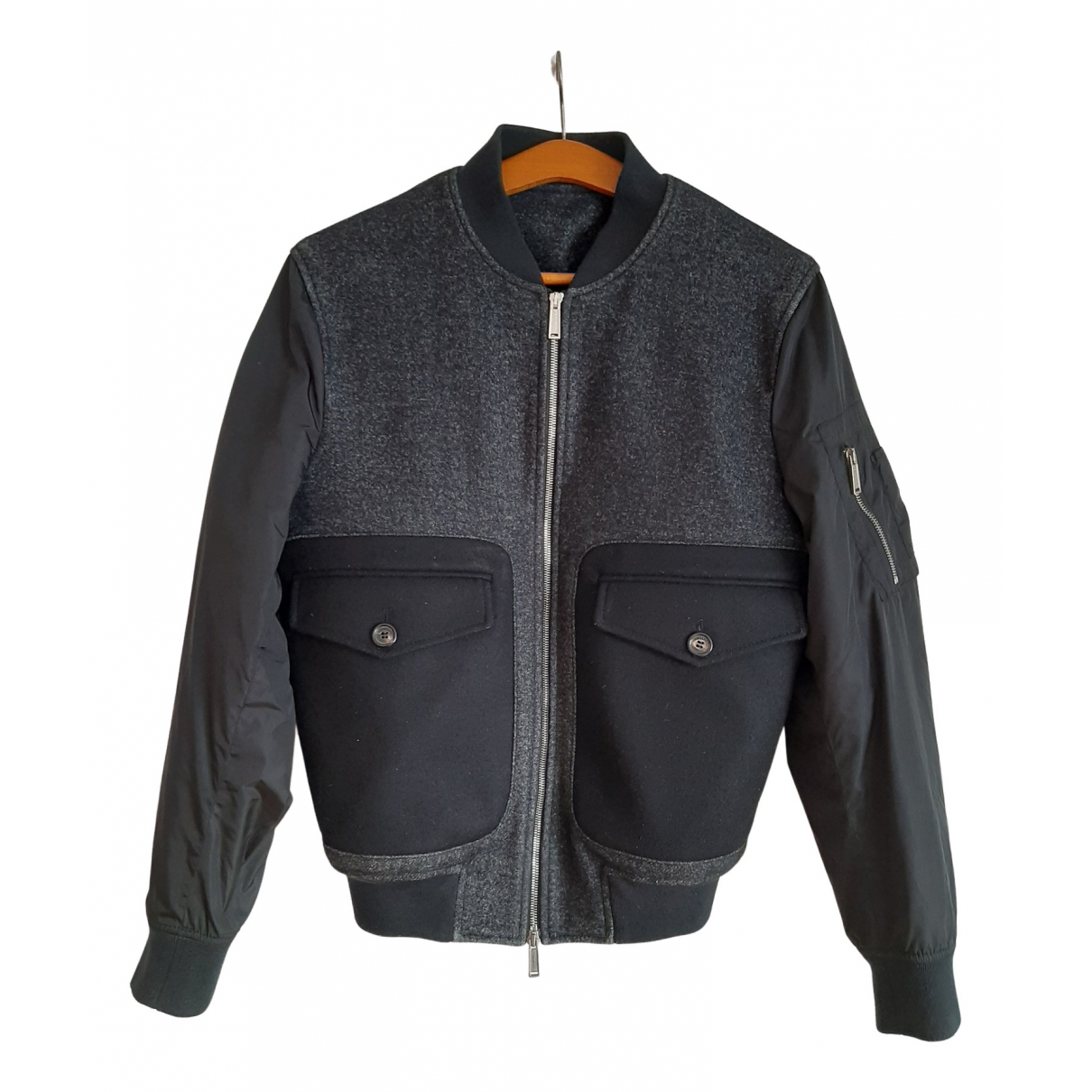 Dsquared2 N Anthracite Wool jacket  for Men 46 IT