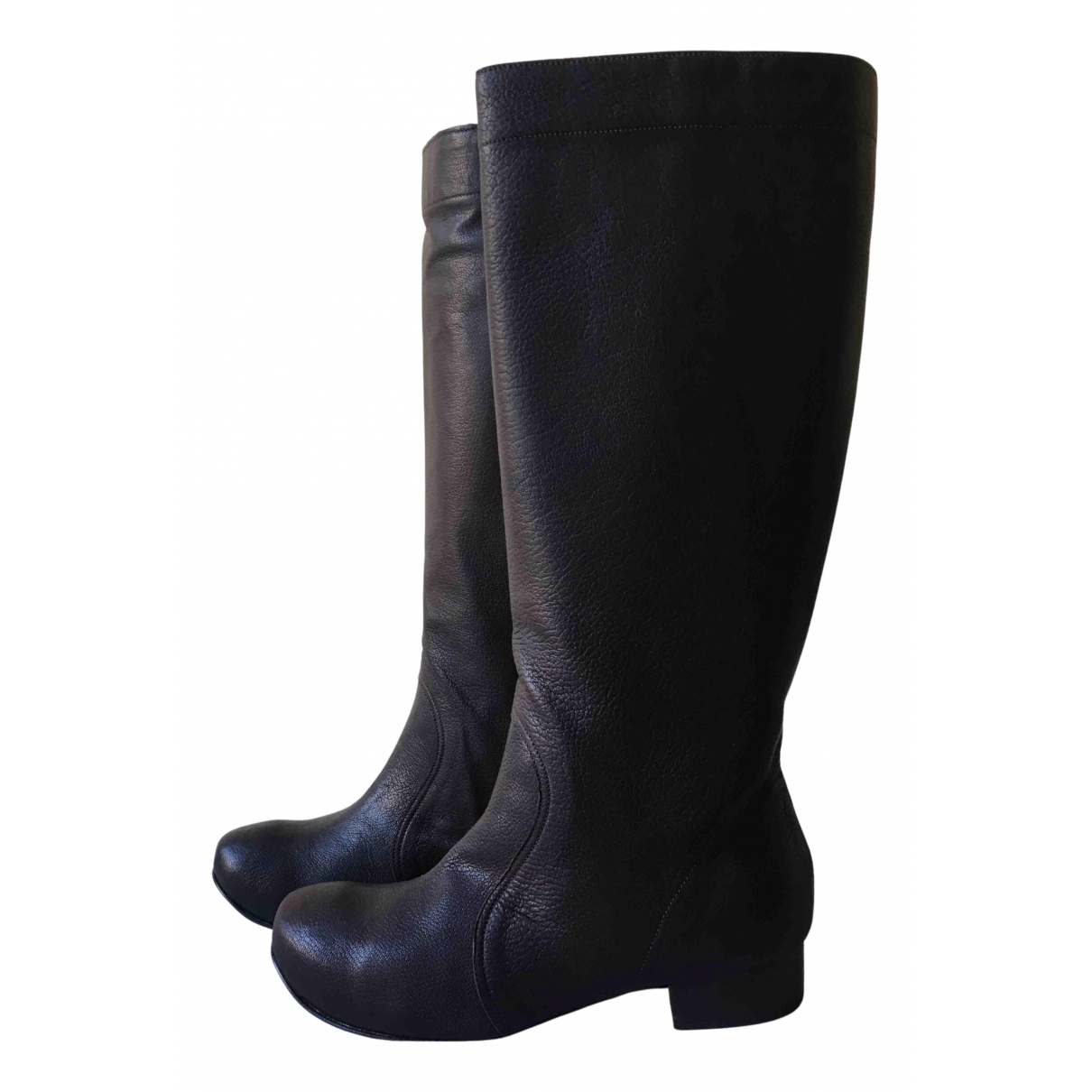 Marni N Brown Leather Boots for Women 36 EU