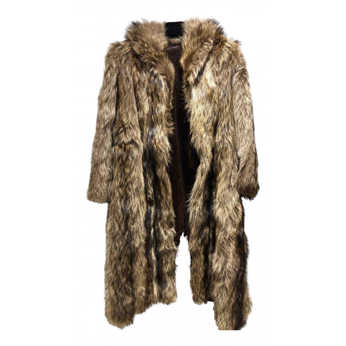 - Manteau Oversize pour femme en renard - beige