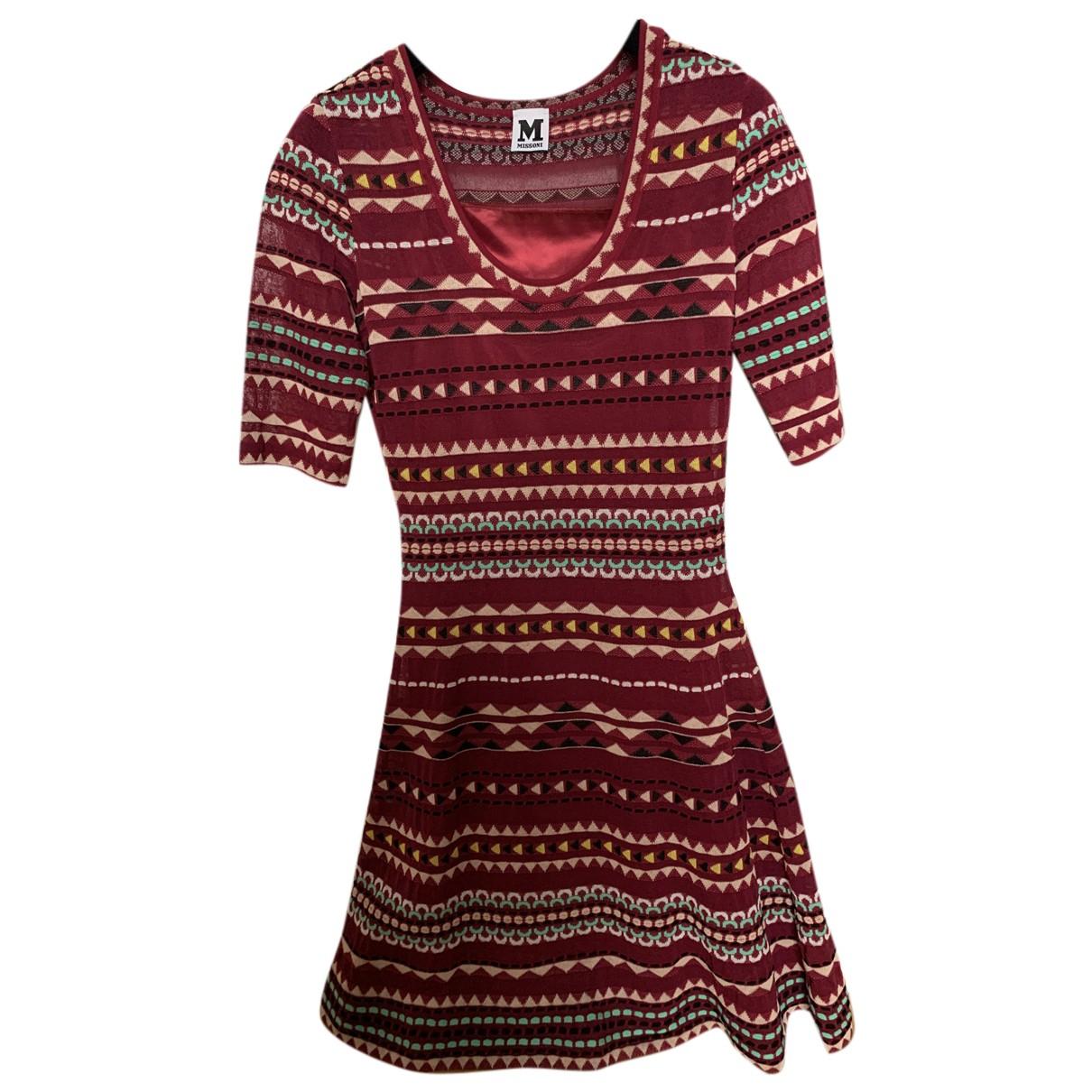 M Missoni \N Kleid in  Bordeauxrot Baumwolle