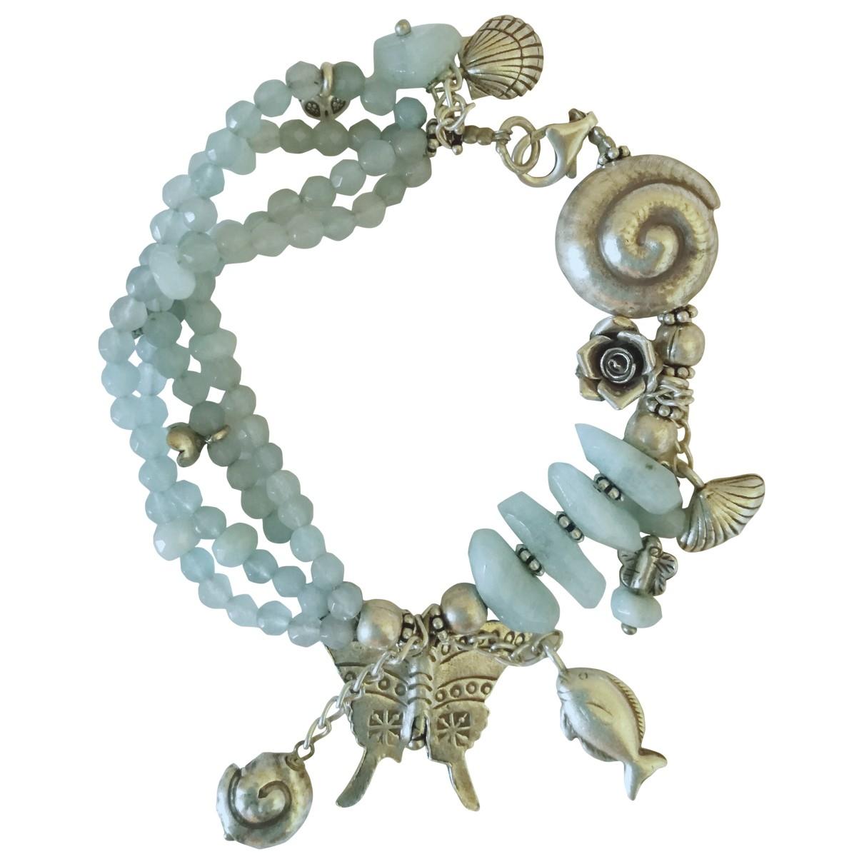 - Bracelet Aigues-Marines pour femme en metal - marine