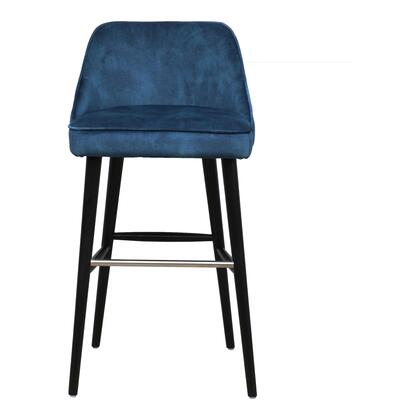 Harmony Collection FN-1041-46 Bar Stool with 100% Polyester Upholstery in Blue