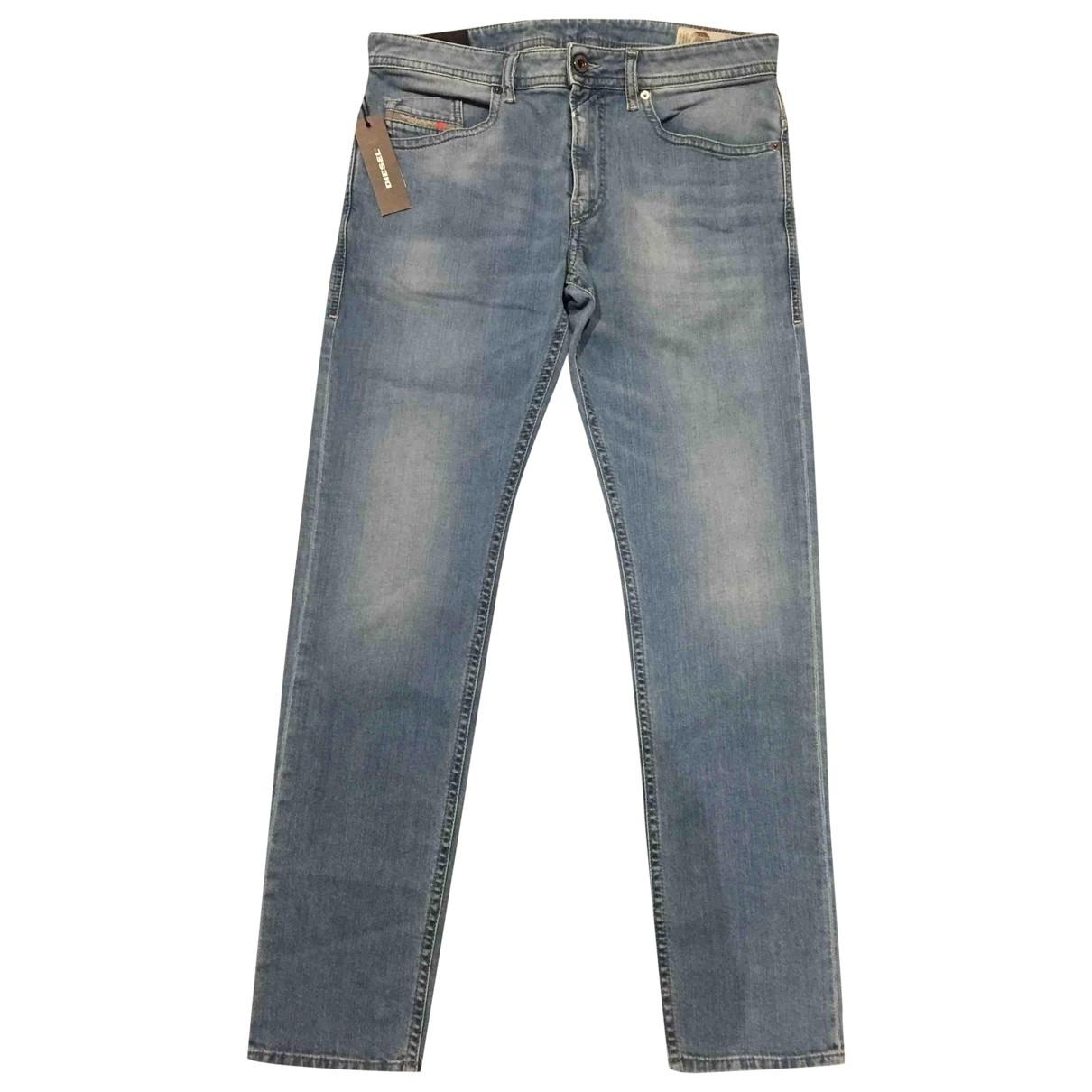 Diesel \N Blue Cotton - elasthane Jeans for Men 32 US