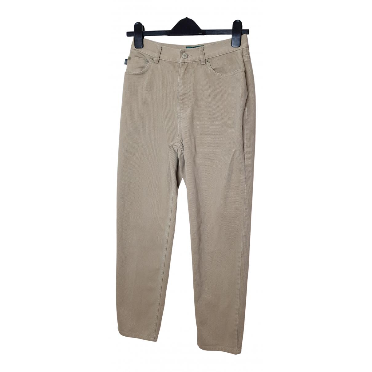 Lauren Ralph Lauren N Beige Cotton Trousers for Women 4 US