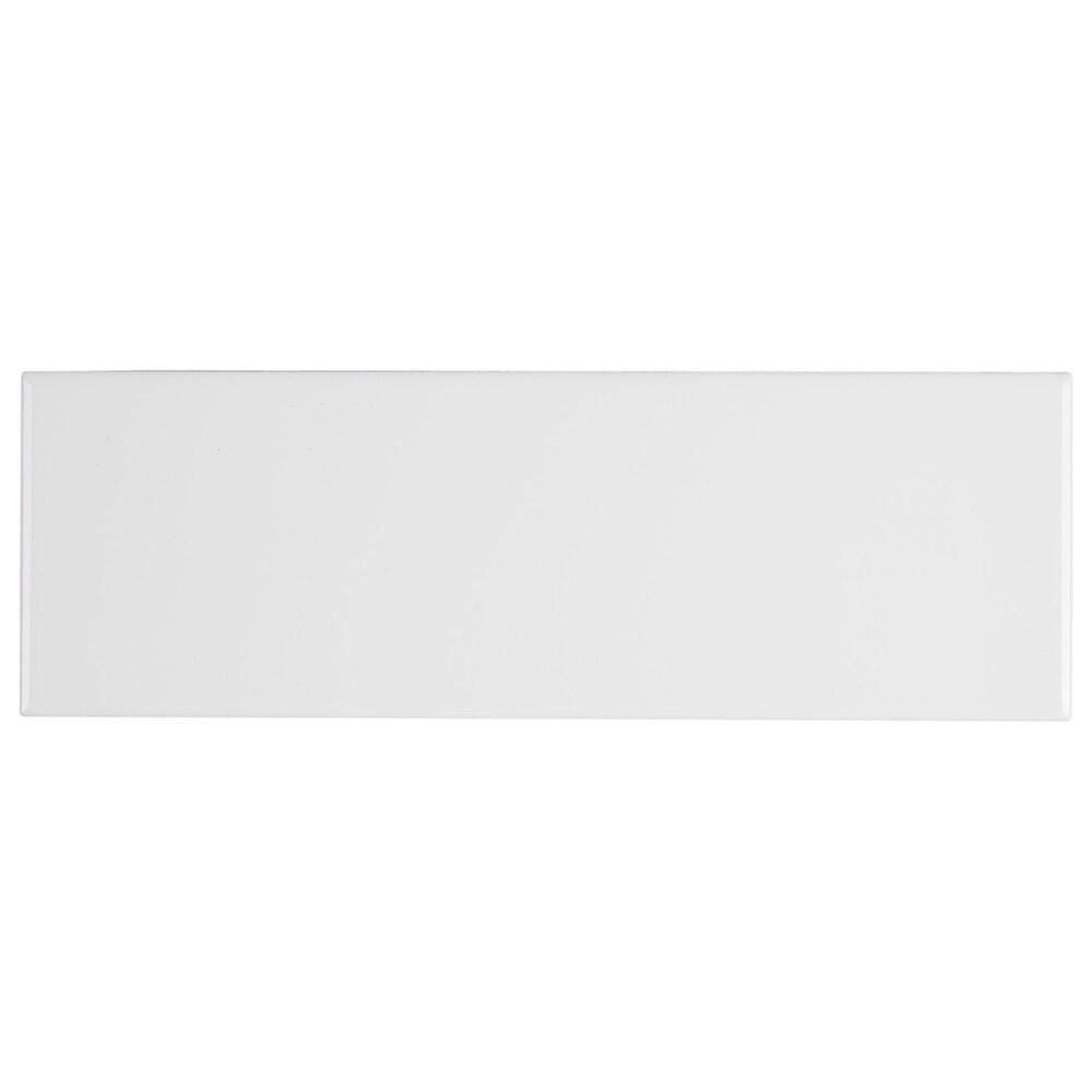 Sophisticated 4x12-inch Glazed Ceramic Field Tile in Arctic White - 4x12 (sample)