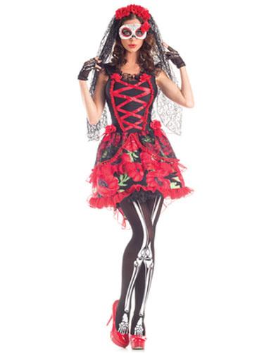 Milanoo Disfraz Halloween Disfraz de los Muertos Corpse Bride estilo femenino con velo&con vestido Carnaval Halloween