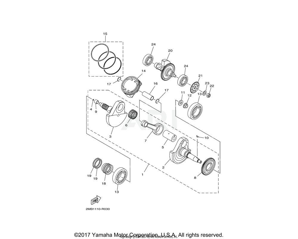 Yamaha OEM 2MB-E1555-00-00 NUT, CRANKSHAFT 1